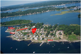 Ariel View Latimer Point Masons Island Mystic River Andrews Island